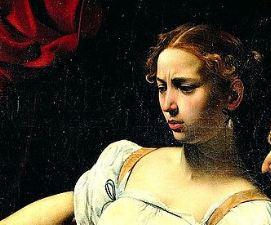 Giuditta ed Oloferne Caravaggio particolare