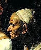 Giuditta Oloferne Caravaggio Particolare